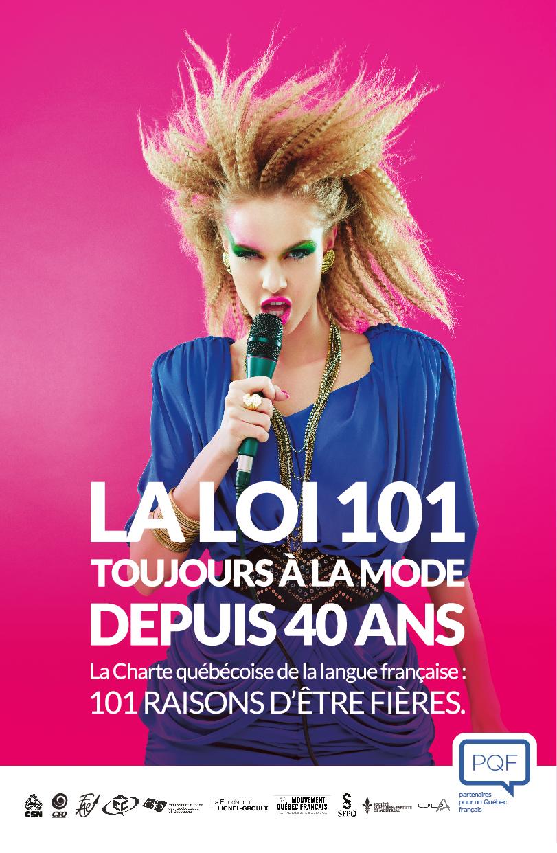 campagne publicité loi 101